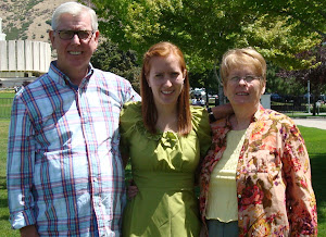 Grandpa and Grandma Glines with the new missionary.