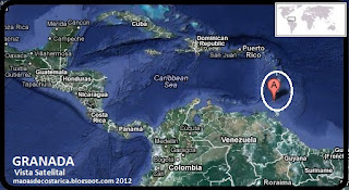 Mapa de GRANADA en Centroamérica, Vista Satelital