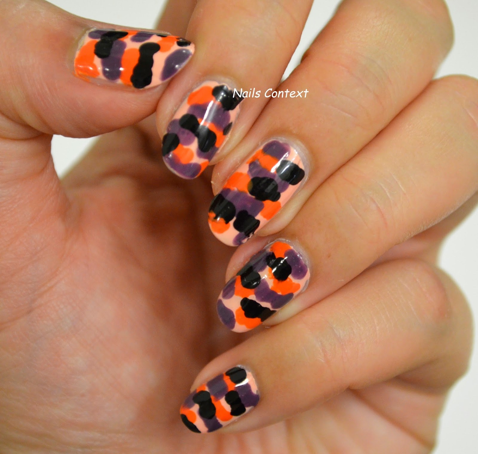 Nails Context Halloween Series Halloween Camouflage Nail Art And