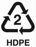 Kode 2 : Plastik HDPE