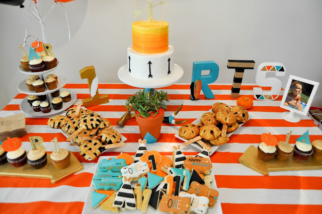 pumpkin pow wow first birthday party desserts