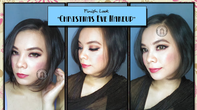 Final Look: MOTD : Christmas eve Makeup with Shimmer Gold