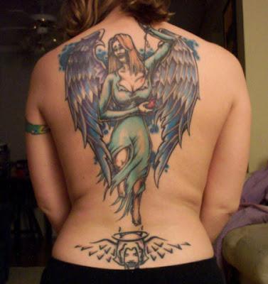 Engel Tattoo Desiggns Angel Tattoo On Back Women