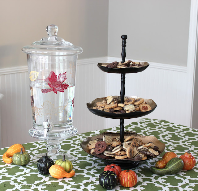 Fall Snack Station {+ Painted Drink Dispenser} and World Market Sweepstakes!