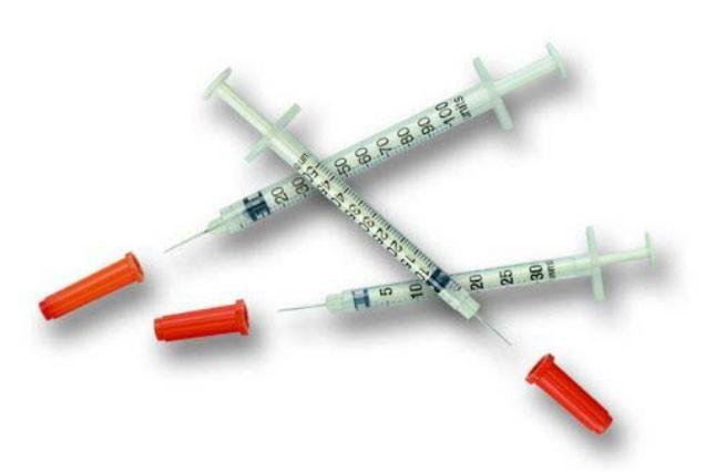 are the same (40 IU syringe for 40IU insulin)