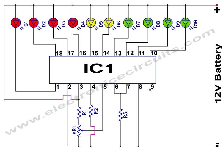 circuits 12v battery monitor circuit