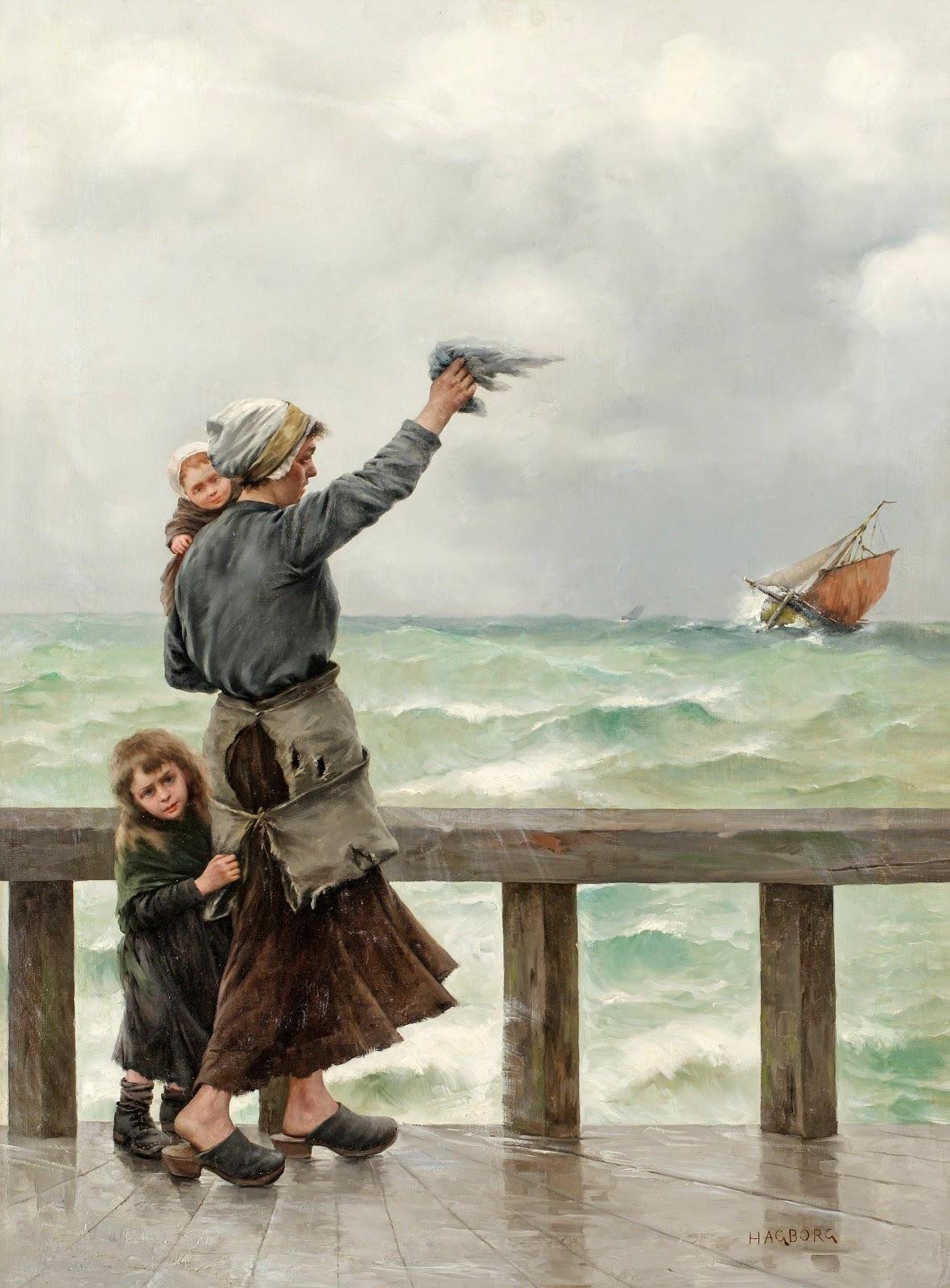 August Hagborg Fiskarens hemkomst