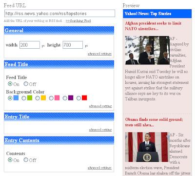 Friend Blogger Create Best Free Rss Widget Widget Feed Blog Webpage -