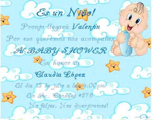 Modelos de tarjetas de baby shower de varón - Imagui