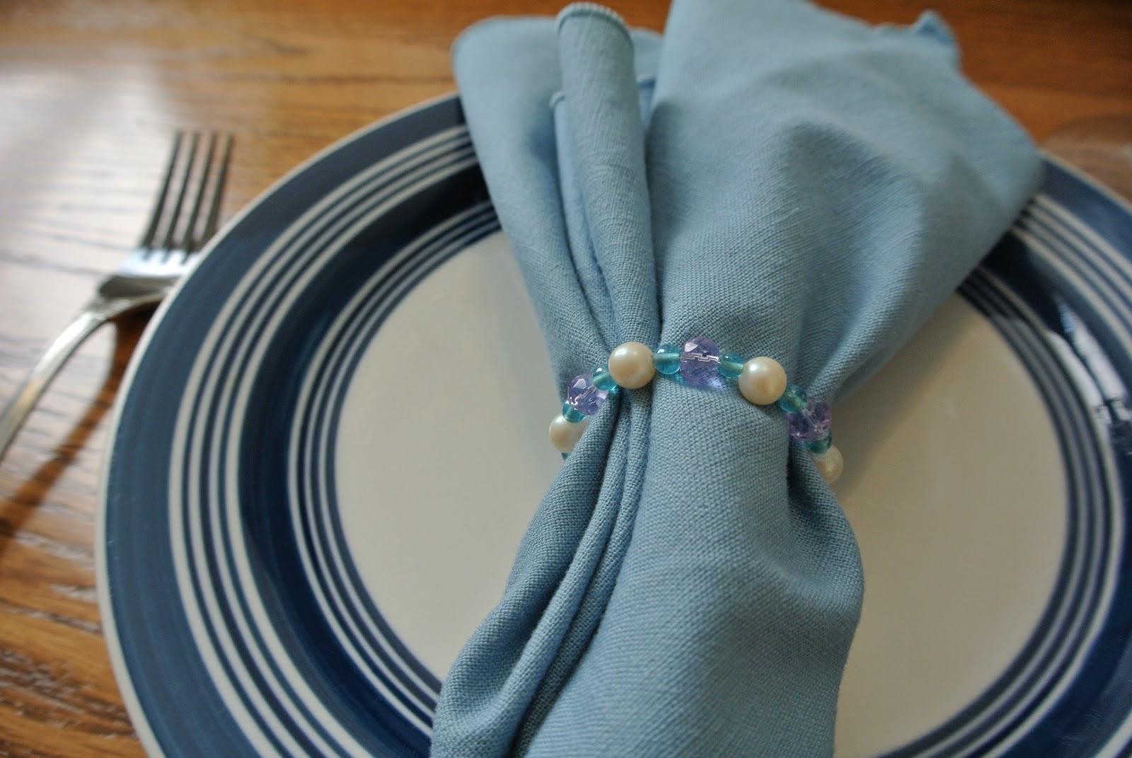 Asheville lisa how to make simple beaded napkin rings