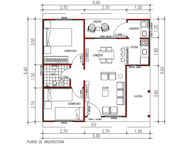 Viviendas anah casas prefabricadas for Programa para planos de viviendas