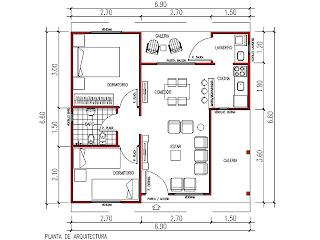 vivienda prefabricada plano