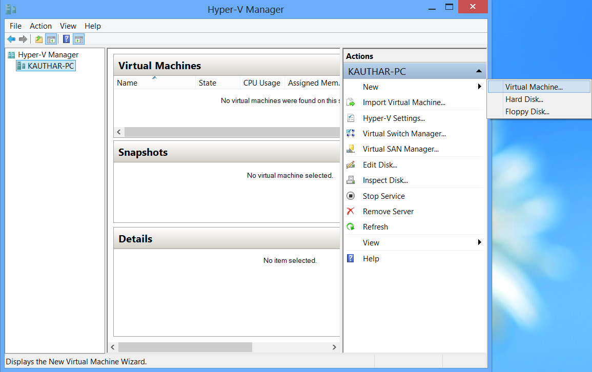 6.+New Hyper V : Virtual Machines di Windows 8