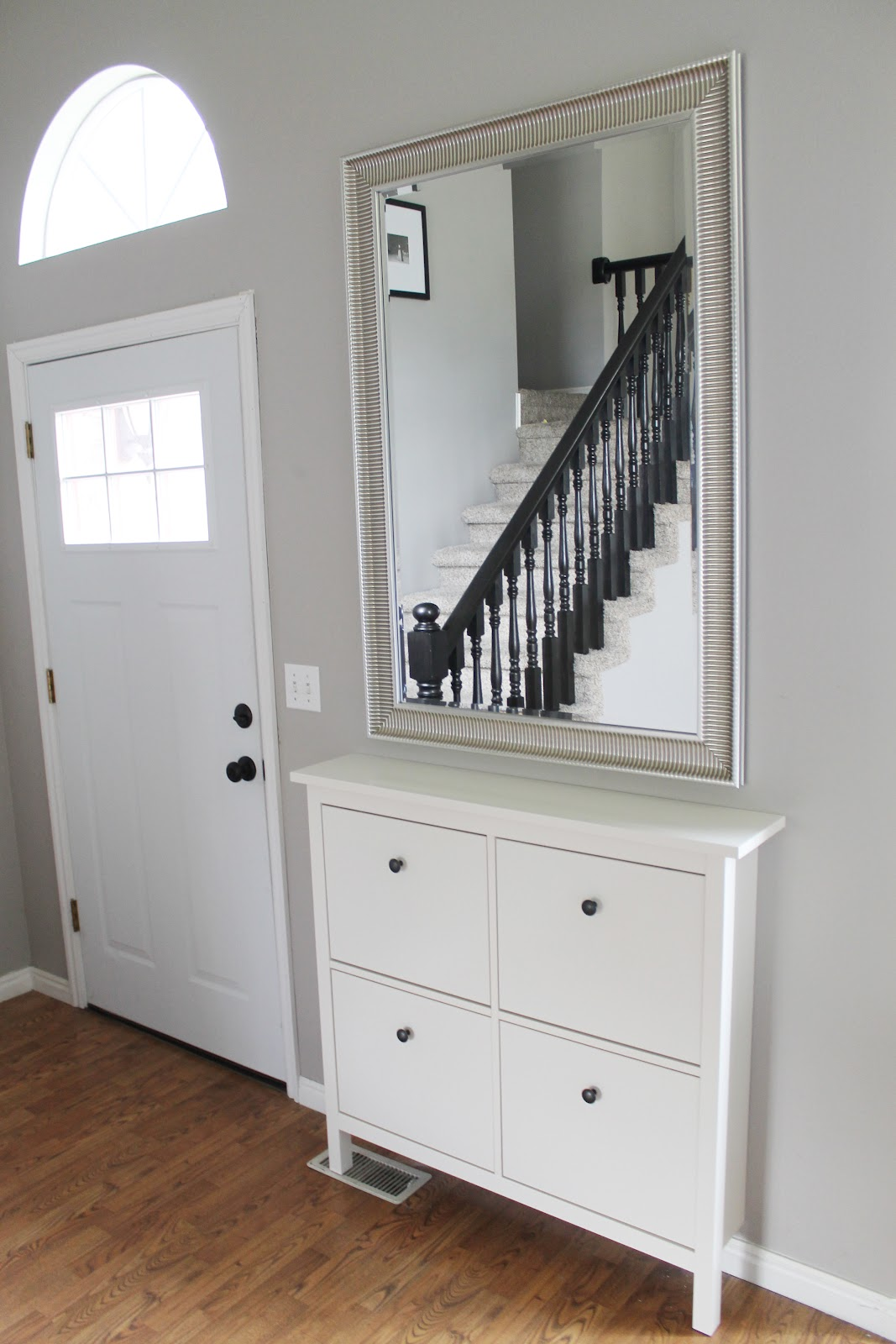 Narrow Entryway Armoire : Before and after entryway chris loves julia