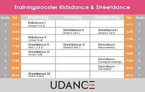 Dancerooster seizoen 2017-2018