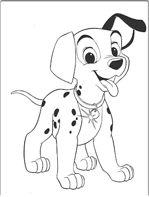 Dalmation Coloring Pages Free