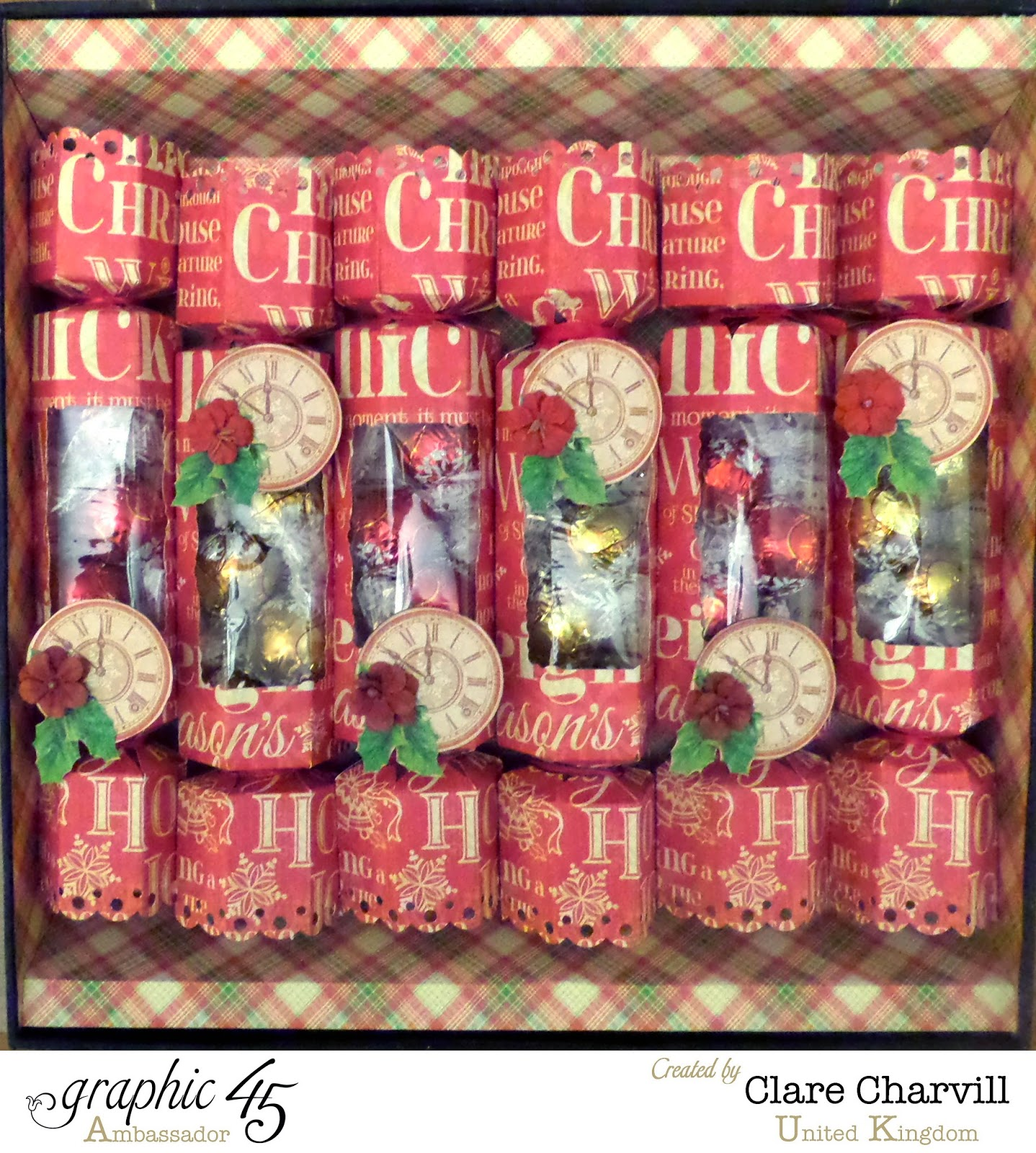 Twas the Night Before Christmas Box of Crackers 6 Clare Charvill Graphic 45 Ambassador