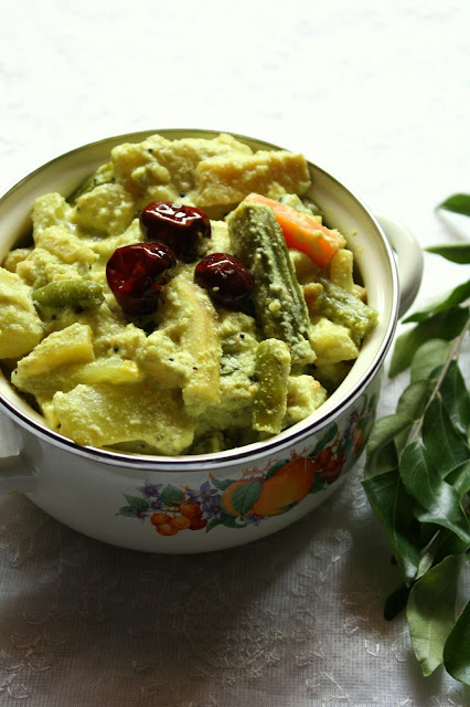 Kerala style aviyal recipe mixed vegetable coconut curry kerala kerala style aviyal recipe mixed vegetable coconut curry kerala vegetarian curry forumfinder Image collections