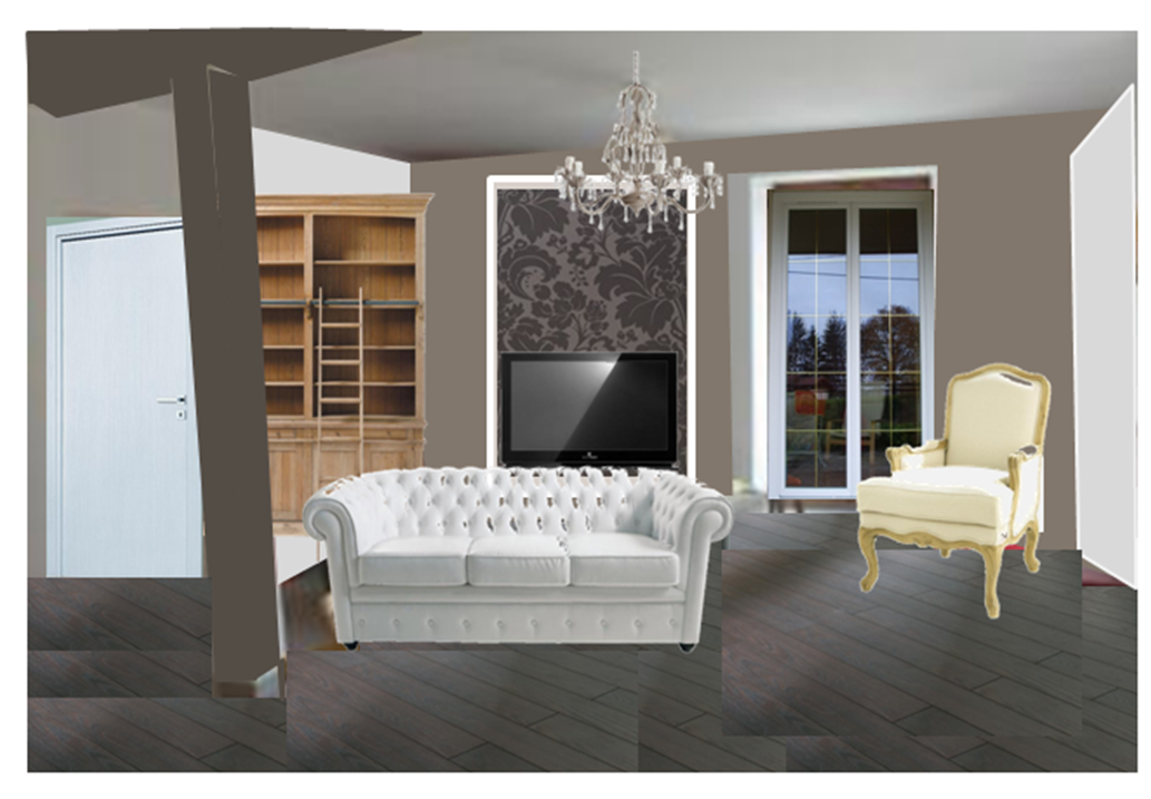 papier peint taupe et beige. Black Bedroom Furniture Sets. Home Design Ideas