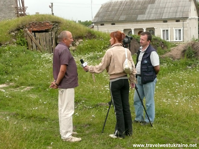 Interview at Archaeological Excavation in Skalat, Ukraine