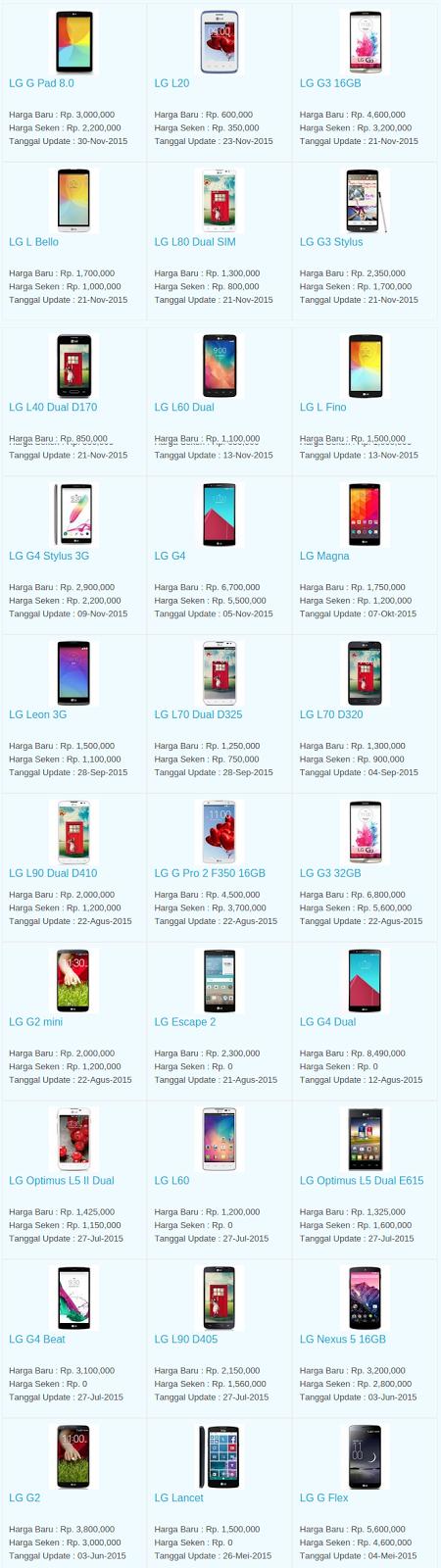 Daftar Harga Hp LG Desember 2015