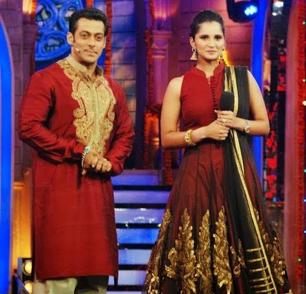 Sania and Salman Khan at Bigg Boss set