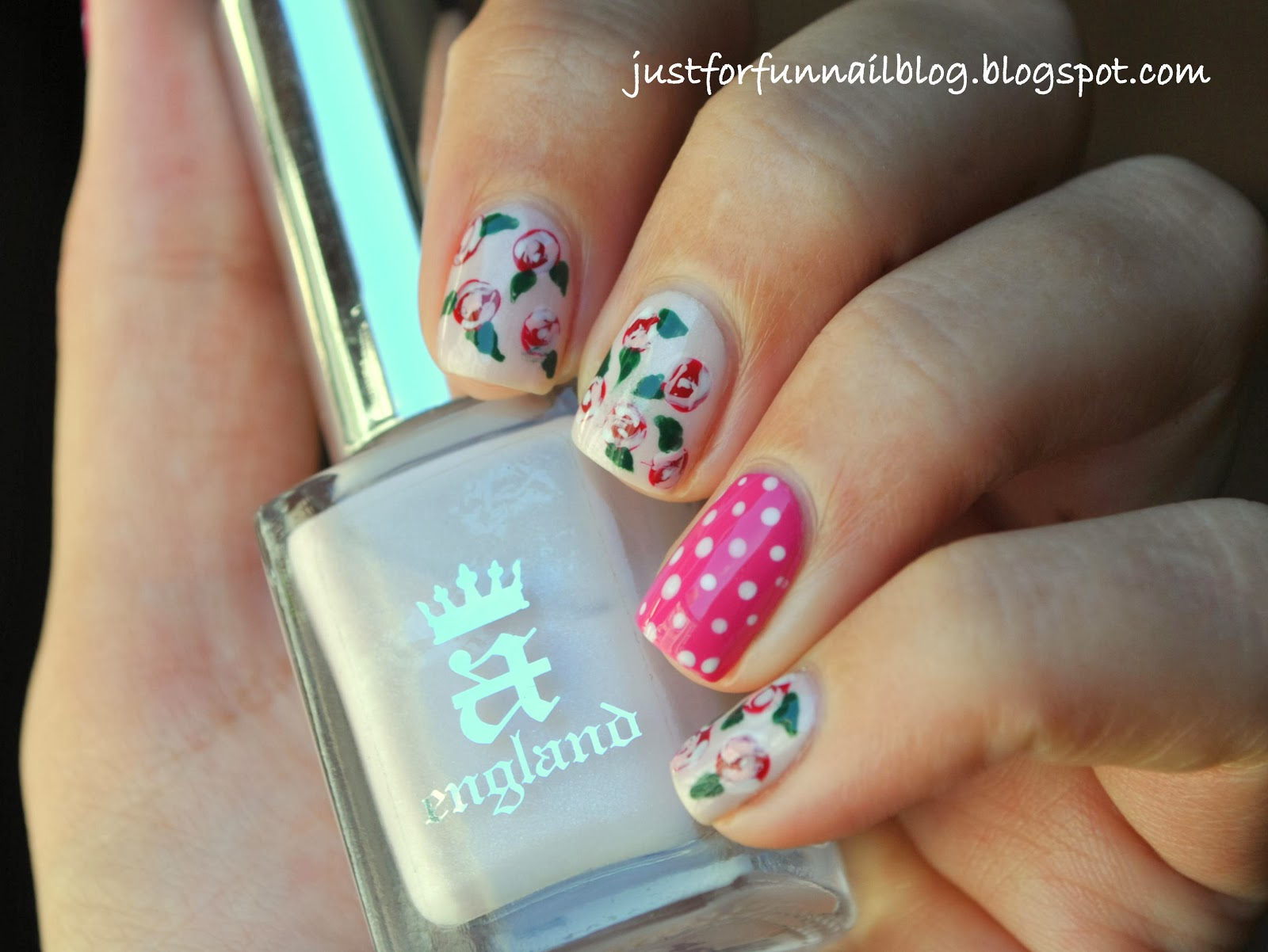 Week of Love V'day Nail Art Challenge - Day 3 - Roses