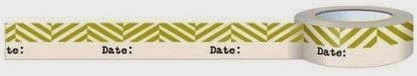 Date labeling washi tape for classroom use