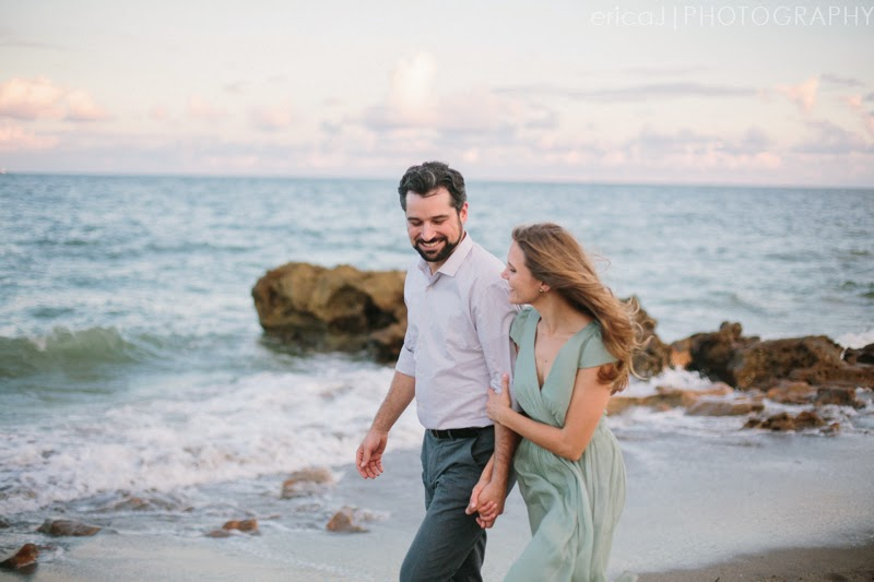 florida beach engagement photos