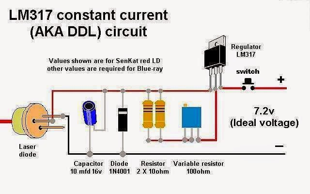 Lm317 Constant Current  Aka Ddl  Circuit