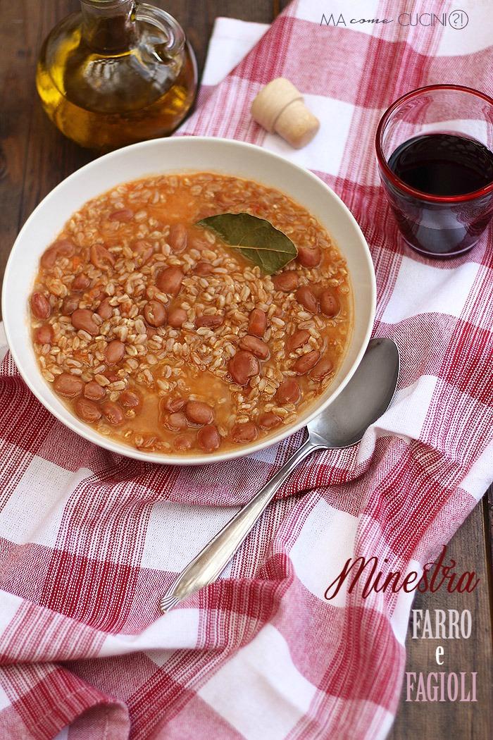 minestra di farro e fagioli