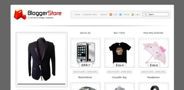 Blogger Store Blogger Template Softarea