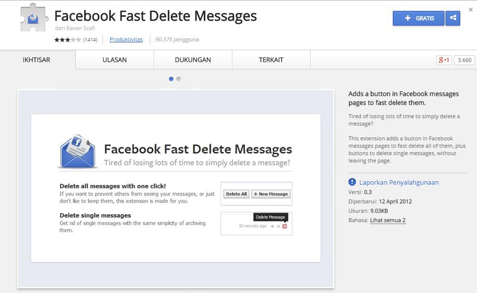 Cara Otomatis Menghapus Pesan Percakapan Facebook dengan Cepat