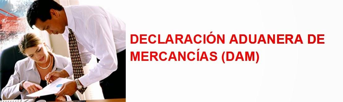 DECLARACIÓN ADUANERA DE MERCANCÍAS (DAM)