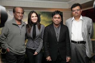 Rajini, Rahman, Soundarya at Kochadaiyaan press meet held at London