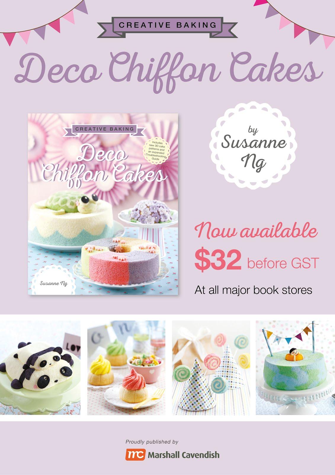 Deco Chiffon Cakes Book (a bestseller in Kinokuniya)