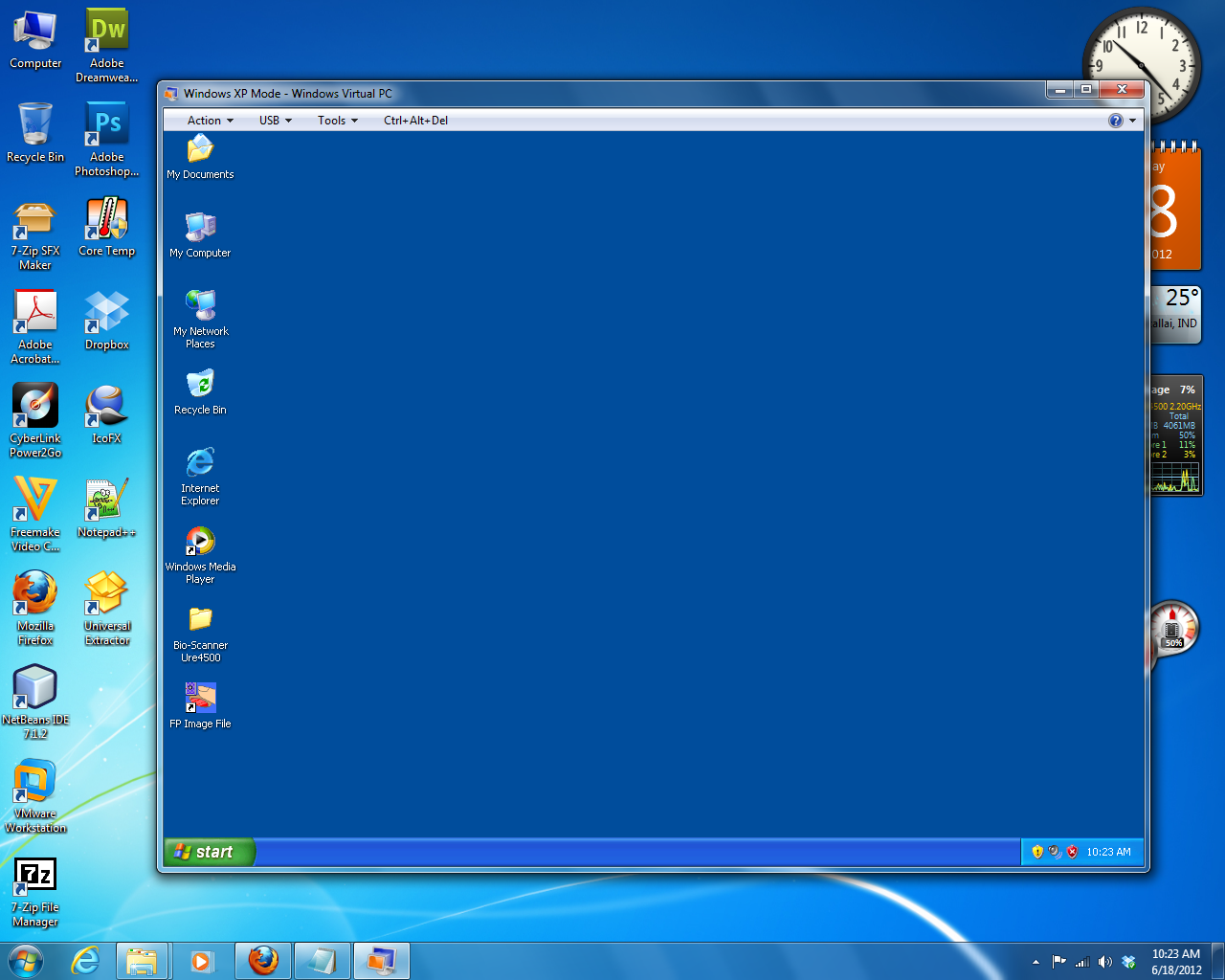 Windows xp mode for windows 7 etds