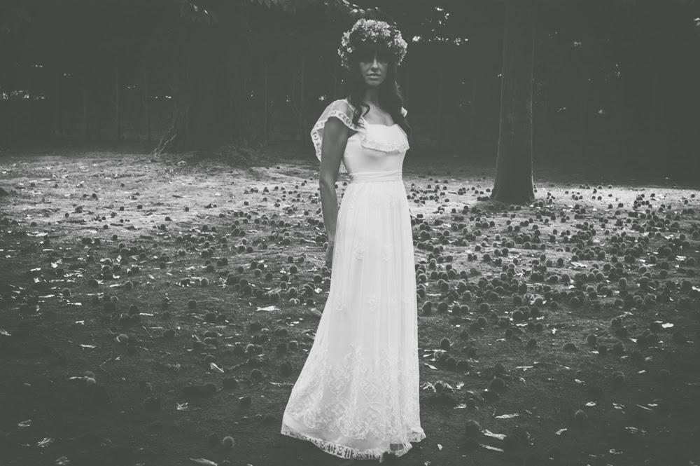 Vestido de novia boho chic bouret