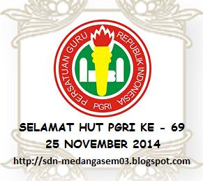 SELAMAT HUT PGRI KE 69 TAHUN 2014