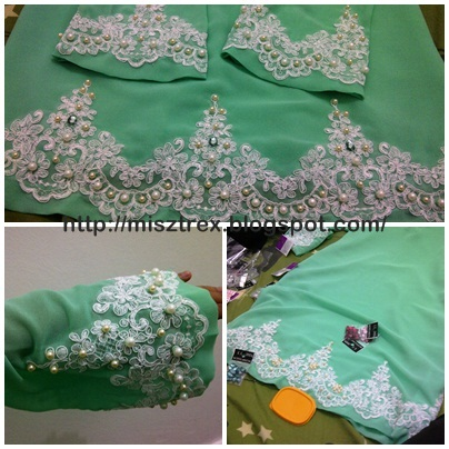 DIY - Jahit beads and lace - athirahassin