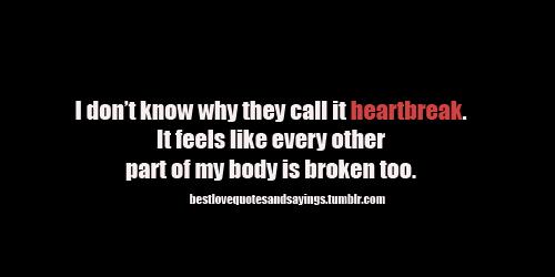 broken hearted speech