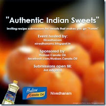 Authentic Indian Sweets & Giveaway @ Nivedhanam