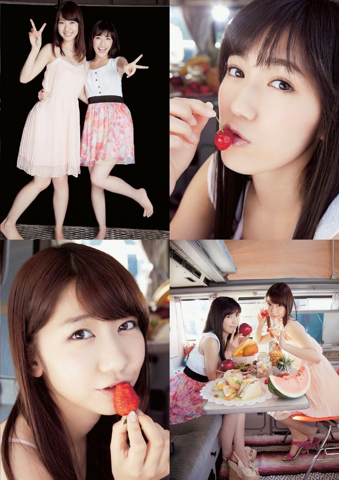 Watanabe Mayu 渡辺麻友 Kashiwagi Yuki 柏木由紀 Weekly Playboy May 2014 Photos 2