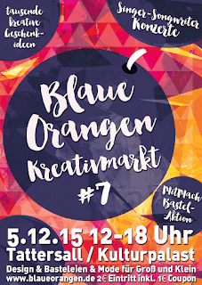 der blaue Orange - Kreativmarkt in Wiesbaden