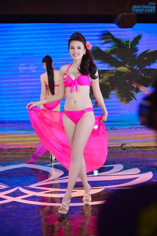 Ảnh gái xinh Hoa hậu miền bắc 2014 với bikini 13