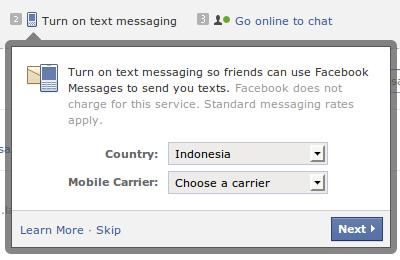 cara aktifkan email facebook