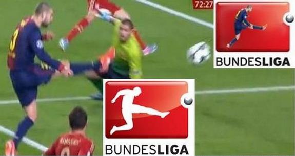 Gerard Piqué's own goal & Bundesliga logo