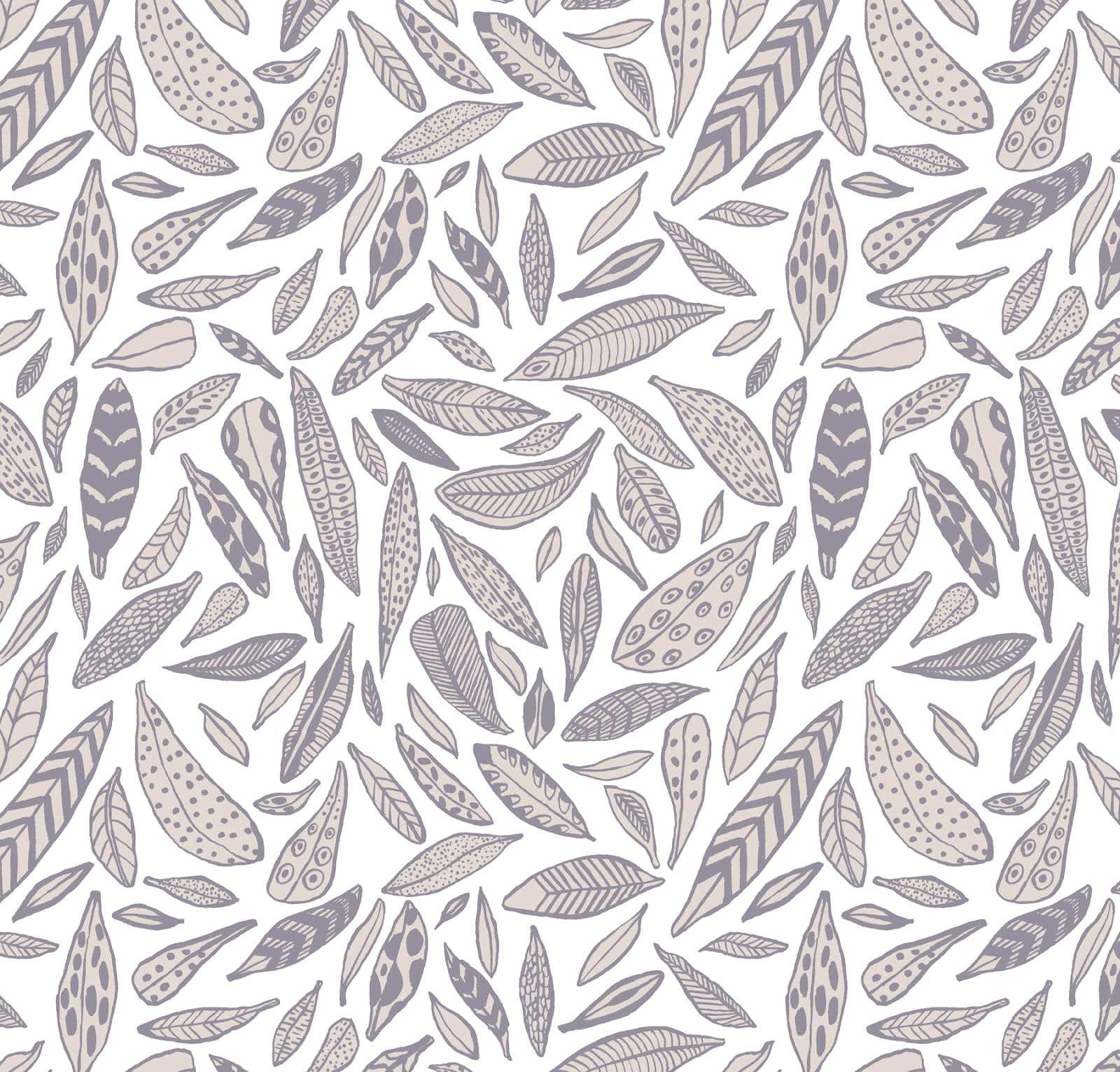 Kristen Acampora Illustration: Feather Pattern.