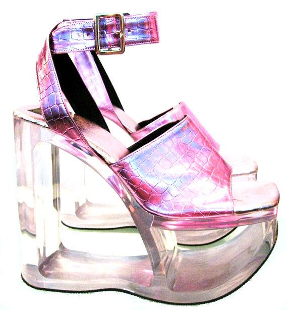 Holographic Pink Platforms