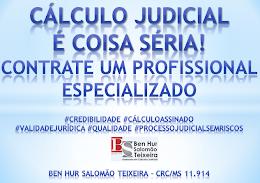 Cálculo Judicial é coisa séria!
